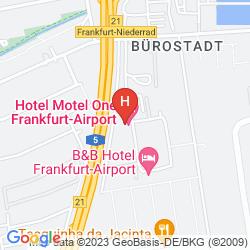 Mapa MOTEL ONE FRANKFURT-AIRPORT