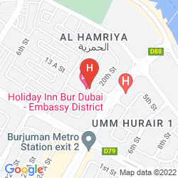 Mapa HOLIDAY INN BUR DUBAI - EMBASSY DISTRICT