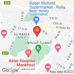 Mapa FORTUNE GRAND HOTEL APARTMENTS, BUR DUBAI