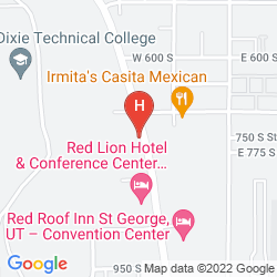 Mapa RED LION HOTEL & CONFERENCE CENTER ST. GEORGE