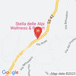 Mapa HOTEL STELLA DELLE ALPI
