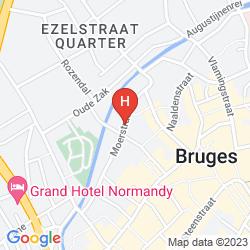 Mapa GOLDEN TREE HOTEL, BRUGGE