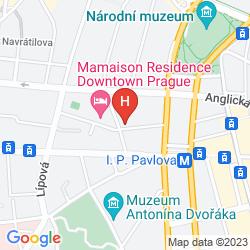 Mapa MAMAISON RESIDENCE DOWNTOWN PRAGUE
