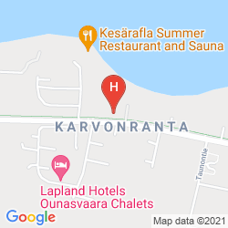 Mapa CHALET HOTEL ROVANIEMI