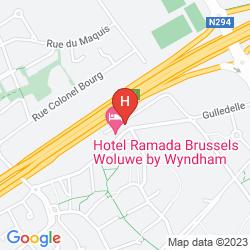 Mapa RAMADA BRUSSELS WOLUWE