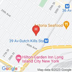 Mapa HOLIDAY INN L.I. CITY-MANHATTAN VIEW