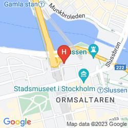 Mapa HILTON STOCKHOLM SLUSSEN