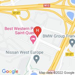 Mapa BEST WESTERN PARIS SAINT QUENTIN