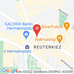 Mapa GRAND HOSTEL BERLIN URBAN