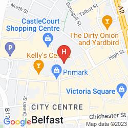 Mapa IBIS BELFAST CITY CENTRE