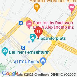 Mapa PARK INN BY RADISSON BERLIN ALEXANDERPLATZ