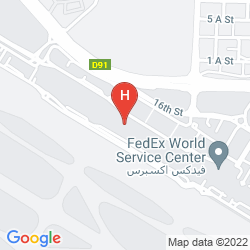 Mapa HOLIDAY INN EXPRESS DUBAI AIRPORT