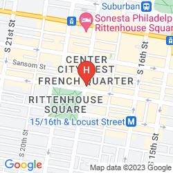 Mapa AKA RITTENHOUSE SQUARE