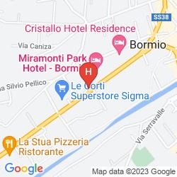 Mapa PALACE HOTEL BORMIO