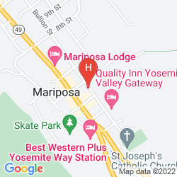 Mapa QUALITY INN YOSEMITE VALLEY GATEWAY