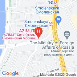 Mapa AZIMUT HOTEL SMOLENSKAYA MOSCOW