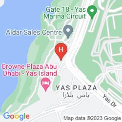 Mapa PARK INN BY RADISSON ABU DHABI YAS ISLAND