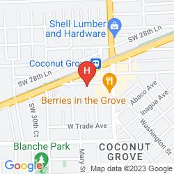 Mapa HAMPTON INN BY HILTON COCONUT GROVE / CORAL GABLES - MIAMI
