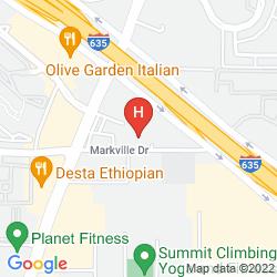 Mapa HOMEWOOD SUITES BY HILTON DALLAS - PARK CENTRAL AREA