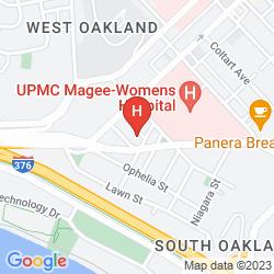 Mapa HAMPTON INN PITTSBURGH UNIVERSITY/MEDICAL CENTER