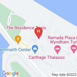 Mapa THE RESIDENCE TUNIS