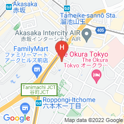 Mapa INTERCONTINENTAL ANA TOKYO