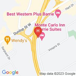Mapa MONTE CARLO INN BARRIE SUITES