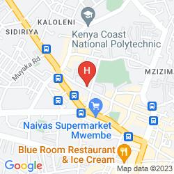 Mapa REEF HOTEL MOMBASA
