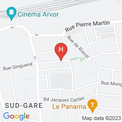 Mapa HOTEL IBIS RENNES GARE SUD