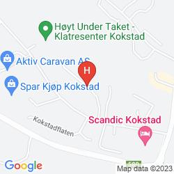 Mapa SCANDIC KOKSTAD