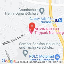 Mapa HOTEL NOVINA TILLYPARK