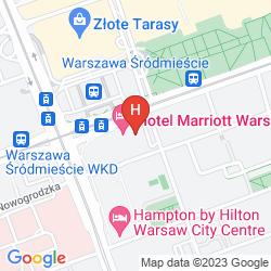 Mapa WARSAW MARRIOTT