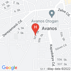 Mapa HOTEL AVRASYA