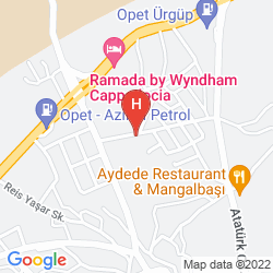 Mapa BURCU KAYA CAVE HOTEL