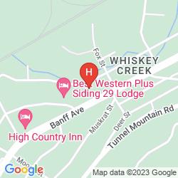 Mapa DELTA HOTELS BANFF ROYAL CANADIAN LODGE