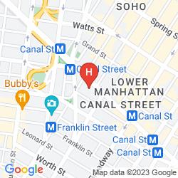 Mapa SHERATON TRIBECA NEW YORK