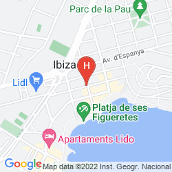 Mapa HOSTAL PITIUSA