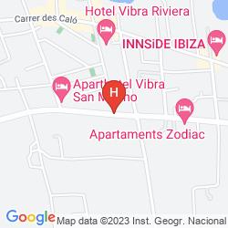 Mapa APARTAMENTOS ZODIAC
