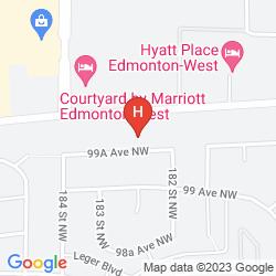 Mapa HAMPTON INN & SUITES EDMONTON WEST
