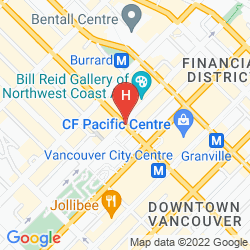 Mapa THE FAIRMONT HOTEL VANCOUVER