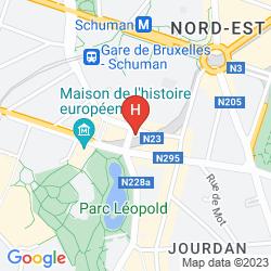 Mapa ALOFT BRUSSELS SCHUMAN