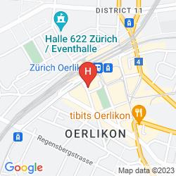 Mapa SWISSOTEL ZURICH
