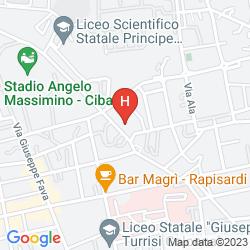Mapa B&B CASA TINA MAUGERI