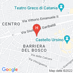 Mapa CATANIA CITY CENTER B&B