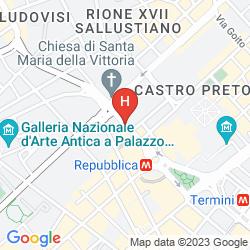 Mapa THE ST. REGIS ROME