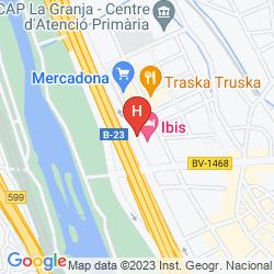 Mapa IBIS BARCELONA MOLINS DE REI