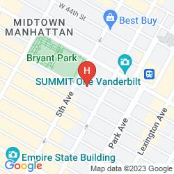 Mapa COURTYARD BY MARRIOTT NEW YORK MANHATTAN/FIFTH AVENUE