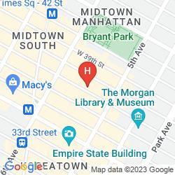 Mapa FAIRFIELD INN & SUITES BY MARRIOTT NEW YORK MANHATTAN/FIFTH AVENUE