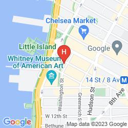 Mapa THE STANDARD, HIGH LINE NYC