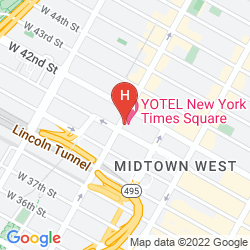 Mapa YOTEL NEW YORK